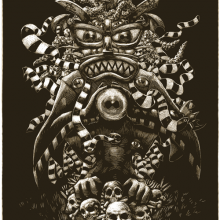 TikiThulhu 15&#215;12-inch Limited Signed Giclee on Fine Art Rag Paper