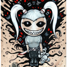 Smiley Girl-thing 7 x 10 Limite Edition Giclee on Fine Art Rag