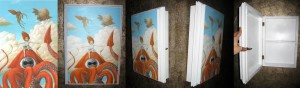 SomeDay I'll Never Grow up Original Painting and Handcrafted Cabinet