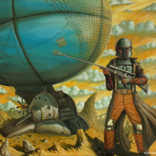Slave 1881 &#8211; Steampunk Boba 8&#215;10 inch Metallic